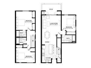 Three Bedroom Townhome B