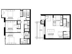 Three Bedroom Townhome C
