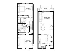 Two Bedroom Townhome 2