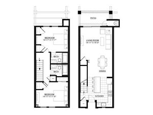 Two Bedroom Townhome C