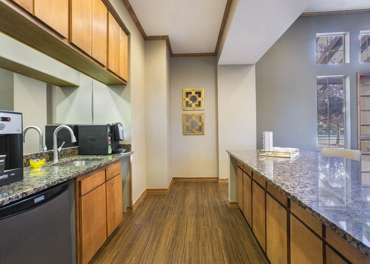 Kitchen Island at Cherrywood Village Apartments, Parker, CO,80134