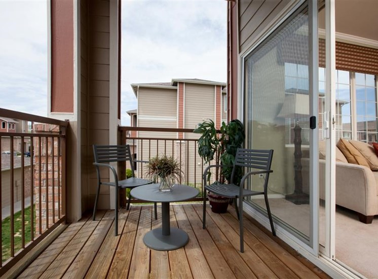 Private Balcony at Cherrywood Village, CO
