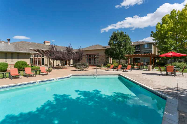 Resort-Style Pool and Cabanas at Cherrywood Village, Parker, CO,80134