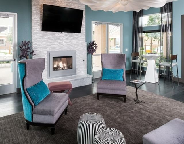 Clubhouse seating area