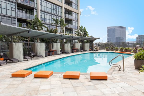 Tranquil Pool and Spa with great Views of the City  at Astoria at Central Park West Apartments, Irvine, CA,92612