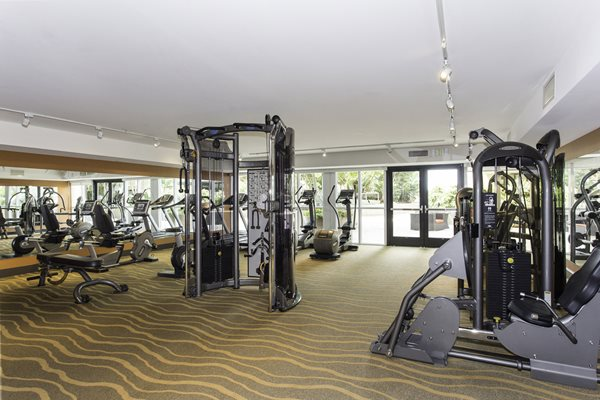Up-to-date Fitness Studio with Cardio and Weight Training Equipment at Astoria at Central Park West Apartments, Irvine, CA,92612