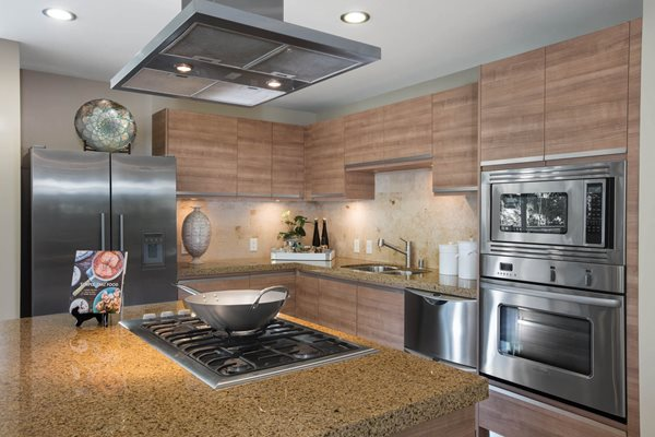 Custom Craftsman Cabinetry  at Astoria at Central Park West Apartments, Irvine, CA,92612