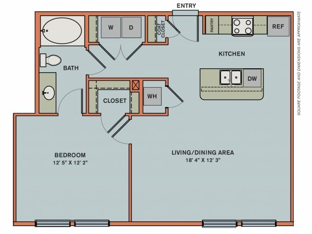 2-A1 Floorplan at The Can Plant Residences at Pearl
