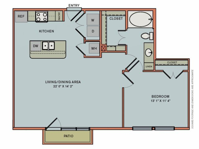 2-A2 Floorplan at The Can Plant Residences at Pearl