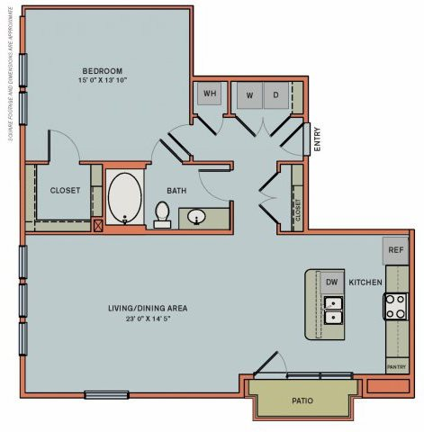 2-A3 Floorplan at The Can Plant Residences at Pearl