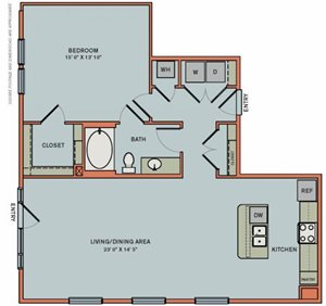 2-A4 Floorplan at The Can Plant Residences at Pearl