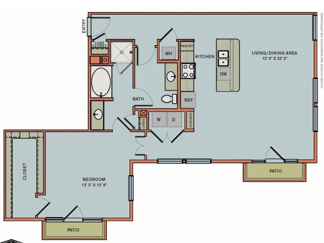 2-A5 Floorplan at The Can Plant Residences at Pearl