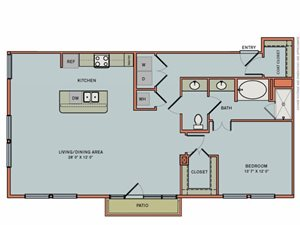 2-A6 Floorplan at The Can Plant Residences at Pearl