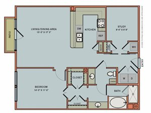 2-AS1 Floorplan at The Can Plant Residences at Pearl