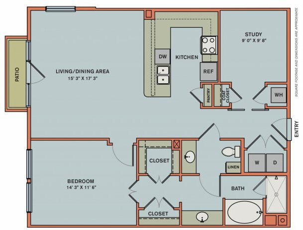 2-AS2 Floorplan at The Can Plant Residences at Pearl