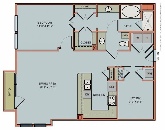 2-AS3 Floorplan at The Can Plant Residences at Pearl
