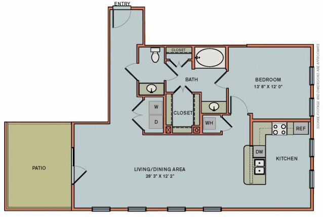 3-A2 Floorplan at The Can Plant Residences at Pearl