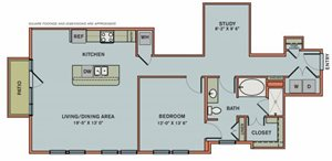 3-AS1 Floorplan at The Can Plant Residences at Pearl