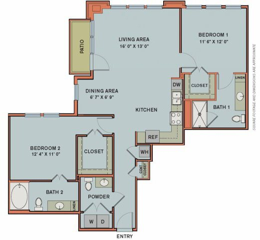 3-B2 Floorplan at The Can Plant Residences at Pearl