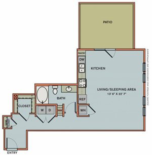 3-S2 Floorplan at The Can Plant Residences at Pearl