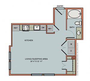 2-S1 Floorplan at The Can Plant Residences at Pearl