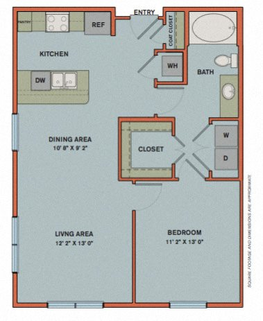A2 Floorplan at The Can Plant Residences at Pearl