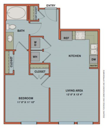 A1 Floorplan at The Can Plant Residences at Pearl