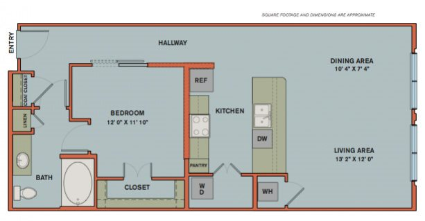 A11 Floorplan at The Can Plant Residences at Pearl