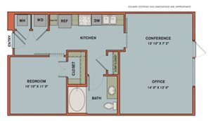 A11.1 Live-Work Space Floorplan at The Can Plant Residences at Pearl