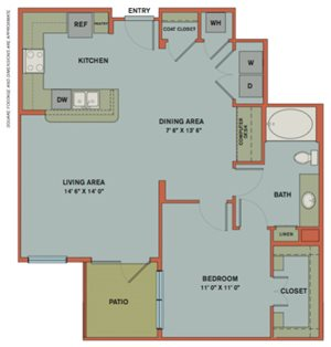 A12 Floorplan at The Can Plant Residences at Pearl