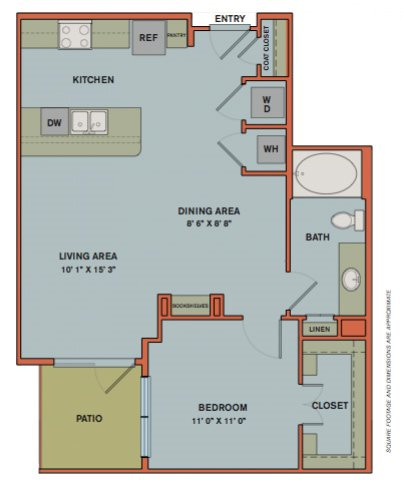 A12.1 Floorplan at The Can Plant Residences at Pearl