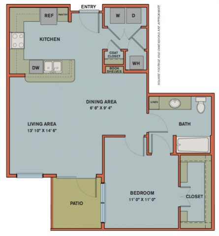 A12.2 Floorplan at The Can Plant Residences at Pearl