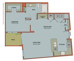 A12.3 Floorplan at The Can Plant Residences at Pearl