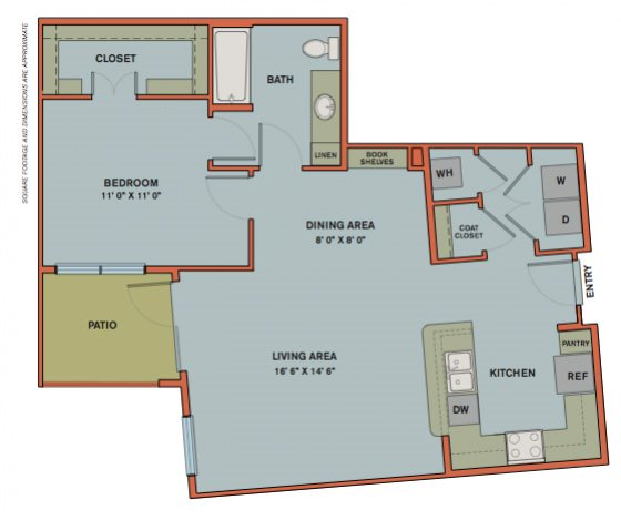 A12.4 Floorplan at The Can Plant Residences at Pearl
