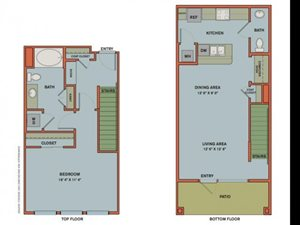 A13 LIVE/WORK SPACE Floorplan at The Can Plant Residences at Pearl