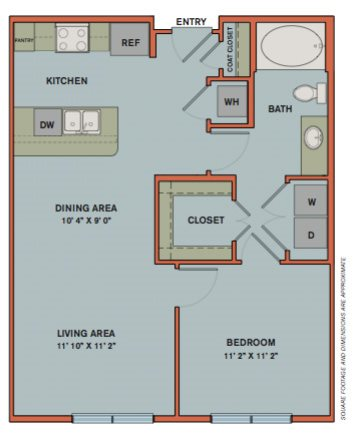 A2.2 Floorplan at The Can Plant Residences at Pearl