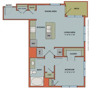 A3 Floorplan at The Can Plant Residences at Pearl