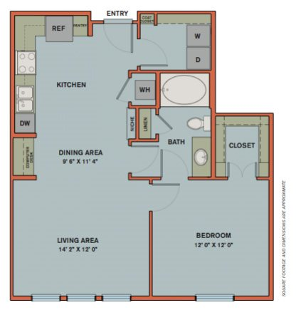 A7 Floorplan at The Can Plant Residences at Pearl
