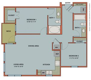 B1 Floorplan at The Can Plant Residences at Pearl