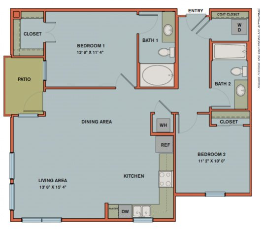 B1.1 Floorplan at The Can Plant Residences at Pearl