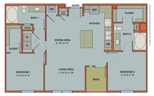 B2 Floorplan at The Can Plant Residences at Pearl