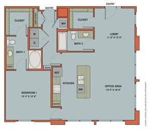 B3.1 Live/Work Space Floorplan at The Can Plant Residences at Pearl
