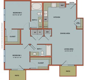 B4 Floorplan at The Can Plant Residences at Pearl