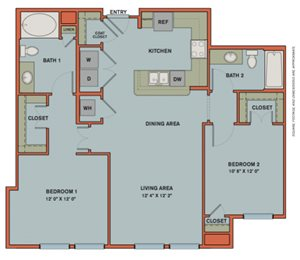 B6 Floorplan at The Can Plant Residences at Pearl