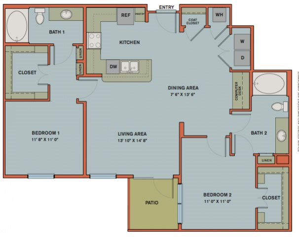 B7 Floorplan at The Can Plant Residences at Pearl