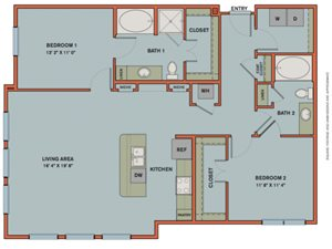 B8 Floorplan at The Can Plant Residences at Pearl
