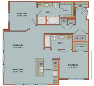 B9 Floorplan at The Can Plant Residences at Pearl