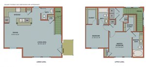 E-B1 Floorplan at The Can Plant Residences at Pearl