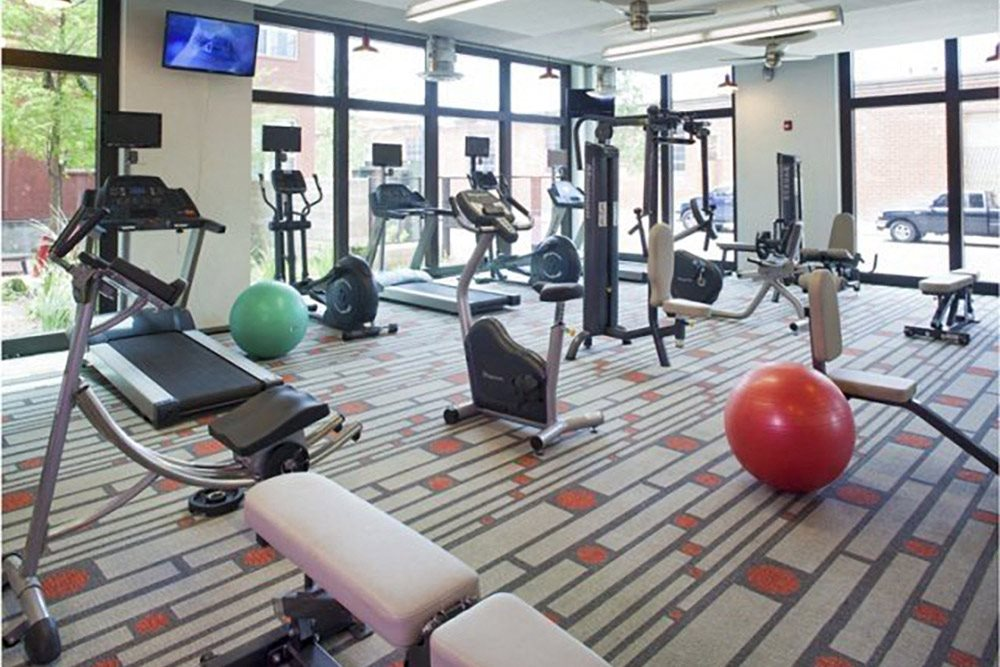 State of The Art Fitness Center with Free Weights at The Can Plant Residences at Pearl, San Antonio, TX 78215