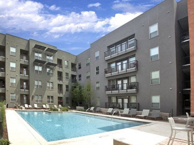 Resort Style Heated Pool at The Can Plant Residences at Pearl, 503 Avenue A, San Antonio, 78215